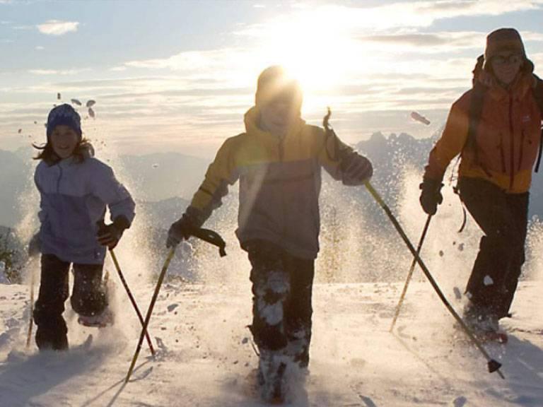 chamonix snow shoeing