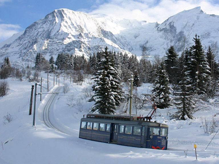 chamonix mont blanc tramway