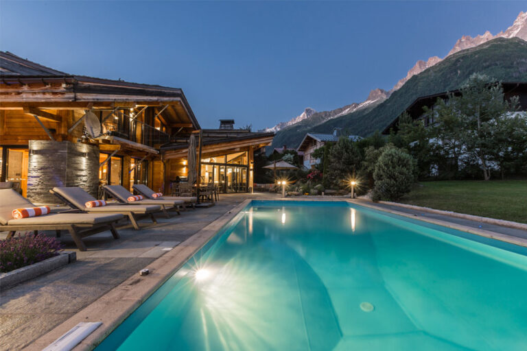chalet couttet chamonix outdoor pool